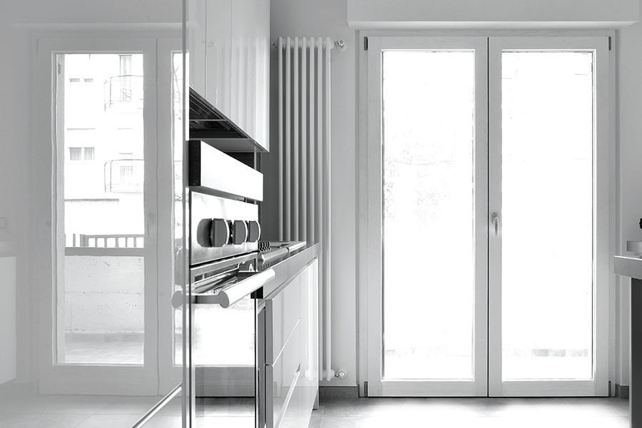 Orion thermic 900 evolution for Infissi in legno bianco